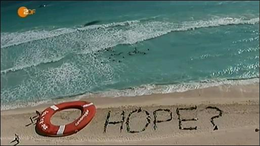 Hope in the sand ... to be washed away by the next flood...