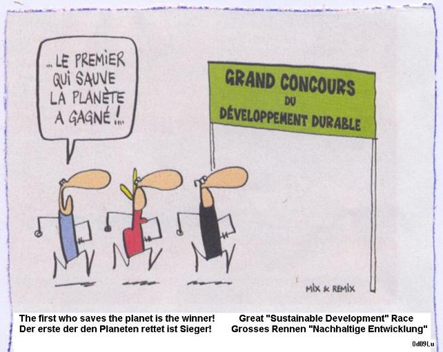 the sustainable development race...